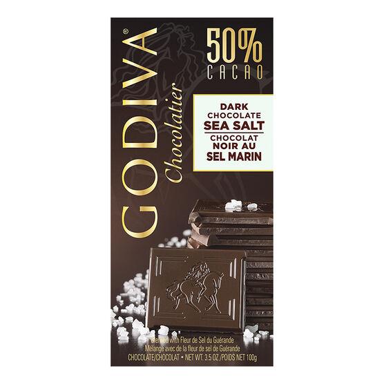 Godiva Dark Chocolate Bar - Sea Salt - 100g