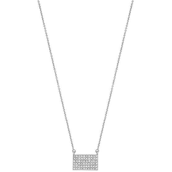 Kenneth Cole Plaque Pendant - Crystal/Silver Plated