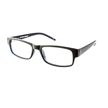 Foster Grant Sloan Reading Glasses with Case - Black/Blue - 1.50
