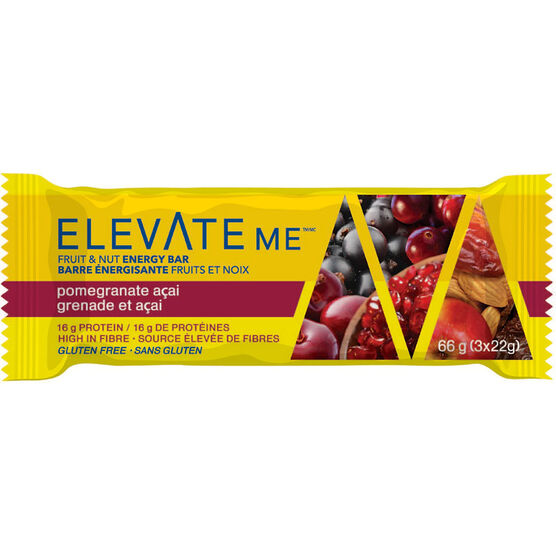 Elevate Me Fruit & Nut Energy Bar -  Pomegranate Acai - 66g
