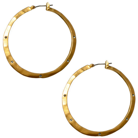 Kenneth Cole Hoop Earrings - Gold Tone