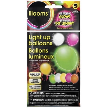 illooms Light Up Balloons - Mixed - 5 pack