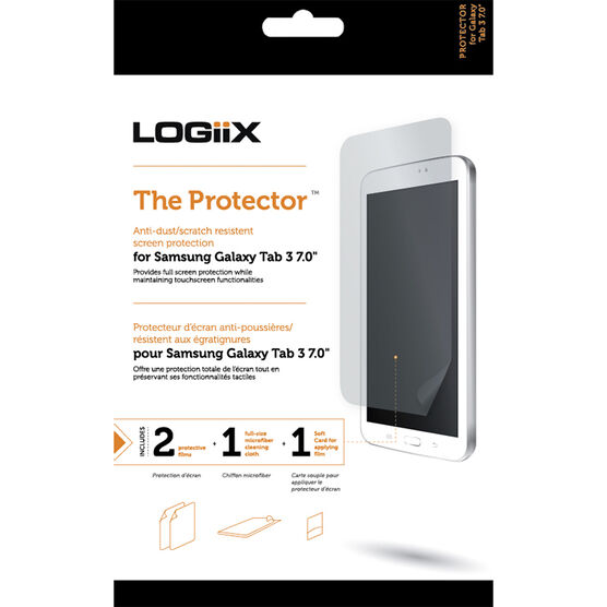 Logiix 7inch Screen Protector for Samsung Galaxy Tab 3 - Clear - LGX-10757