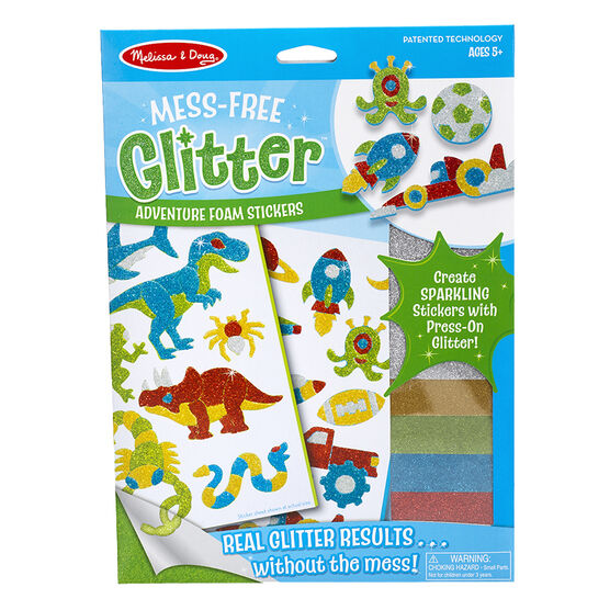Melissa & Doug Mess-Free Glitter Foam Stickers - Adventure - 9501