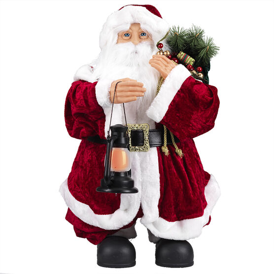 Collapsible Santa with Bag and Lantern - XM-CH1814