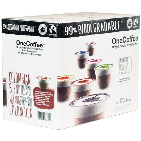 OneCoffee Single Use Soft Pods - Colombian - 18's