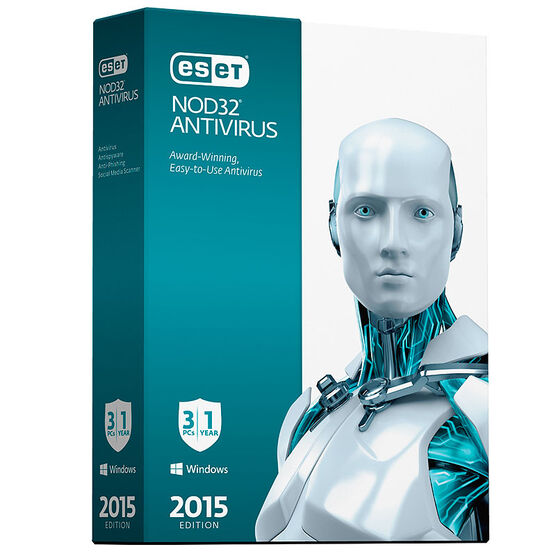 ESET NOD32 AntiVirus Software - 3 Users - 1 Year