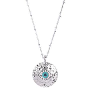 Lonna & Lilly Evil Eye Necklace - Silver Tone