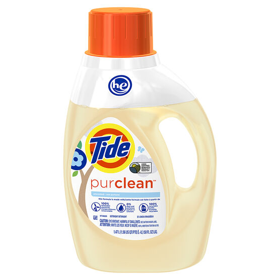 Tide HE Pure Clean Laundry Detergent - Unscented - 1.47L/32 Uses