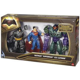 Batman v Superman Action Figures - Batman, Superman and Lex Luthor