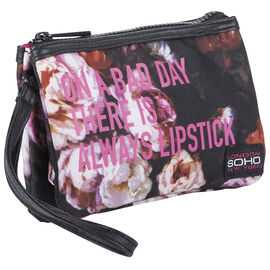 Soho Kindness Is Always Beautiful 3 Compartment Wristlet