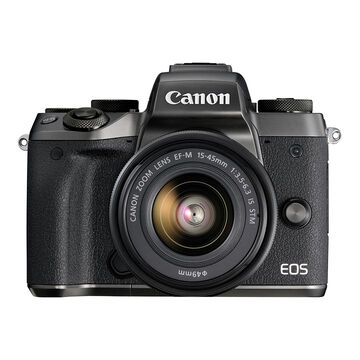 PRE-ORDER: Canon EOS M5 Body with 15-45mm  f/3.5-6.3 IS STM Lens - Black - 1279C011