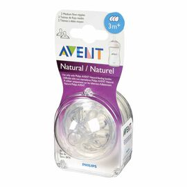 Avent Natural Nipple Medium Flow - 3 months and up - 2 pack