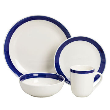Basic Living III Dinnerware Set - Cobalt - 16 piece