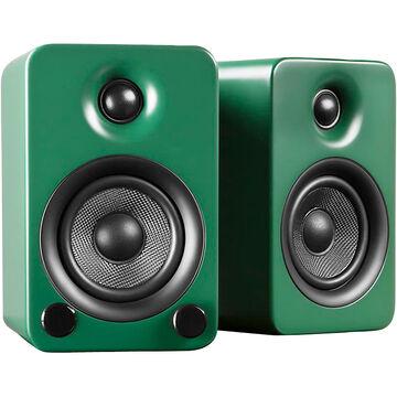 Kanto YU3 Powered Bookshelf/Desktop Speakers - Pair - Matte Green