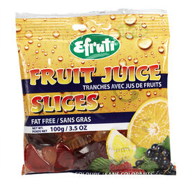 Efruti Gummi-Sweets Fruit Juice Slices - 100g