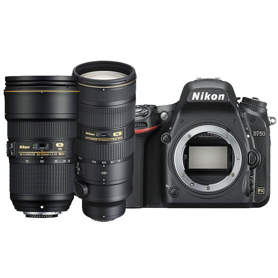 Nikon D750 with 24-70mm and 70-200mm Lens