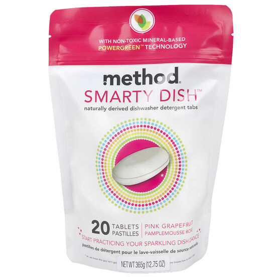 Method Dishwasher Tabs - Pink Grapefruit - 20's