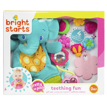 Bright Starts Pretty in Pink Teething Fun Gift Set