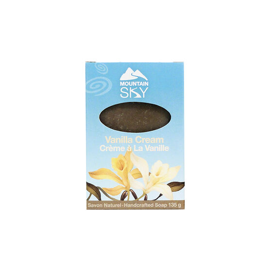 Mountain Sky Natural Hand Crafted Soap - Vanilla Cream - 135g