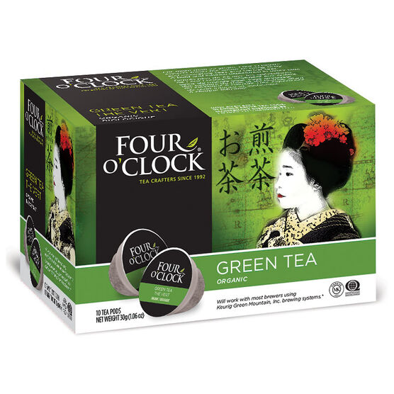 Four O'Clock Organic Tea - Green - 10 Servings