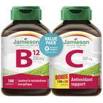 Jamieson B12 + Vitamin C - 100's +100's