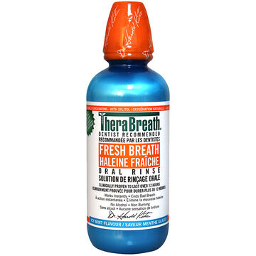 Thera Breath Oral Rinse - Invigorating Icy Mint - 473ml