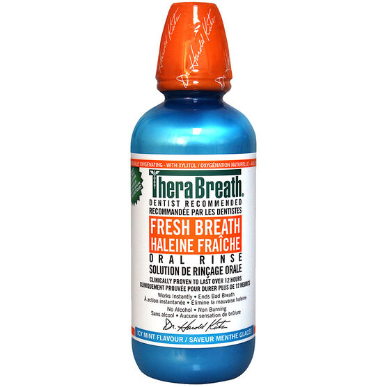 Thera Breath Oral Rinse - Invigorating Icy Mint - 473ml