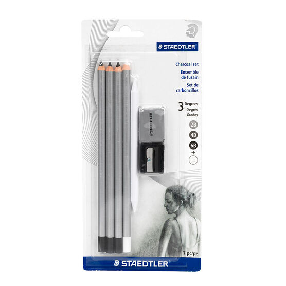 staedtler charcoal pencil set 7 piece london drugs