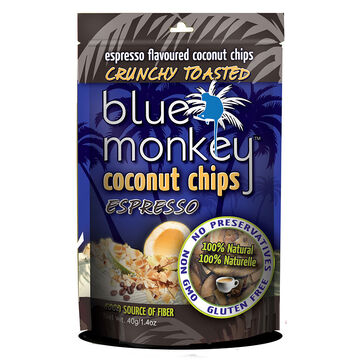 Blue Monkey Coconut Chips - Espresso - 40g