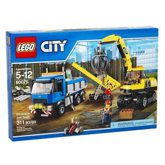 Lego City - Excavator And Truck - 60075