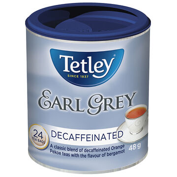 Tetley Decaffeinated Earl Grey Tea - 24's