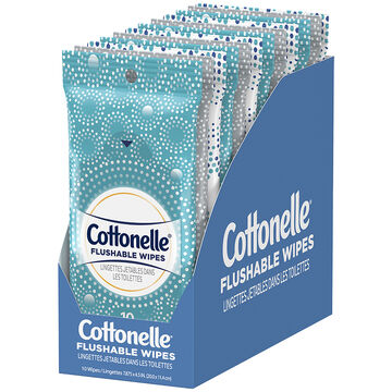 Cottonelle Moist Fresh Wipes - 10's