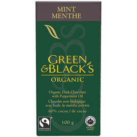 Green & Black's Organic Dark Chocolate - Mint - 100g