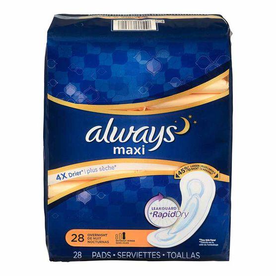 Always Maxi Overnight - 28's