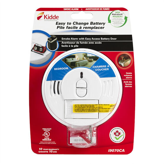 Kidde Battery Operated Smoke Alarm with Hush Button - 0976/I9070