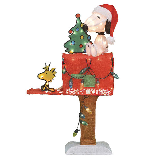 Pre-lit Snoopy on Mailbox 3D Decoration - 32in