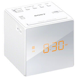Sony AM/FM Alarm Clock - White - ICFC1W