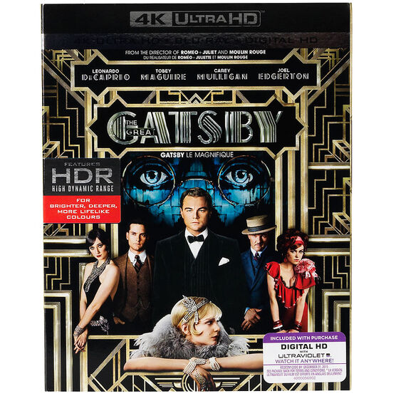 The Great Gatsby (2013) - 4K UHD Blu-ray