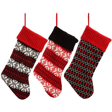 Winter Wishes Black Tie Stocking - Assorted