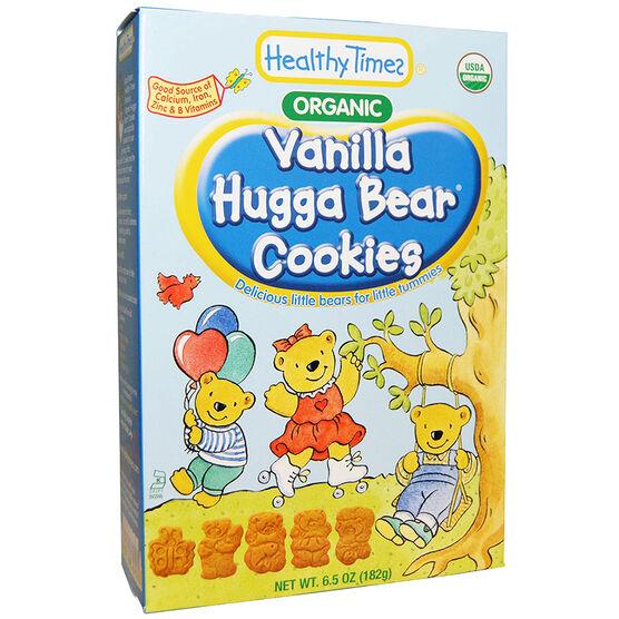 Healthy Time Organic Hugga Bear Cookies - Vanilla - 182g