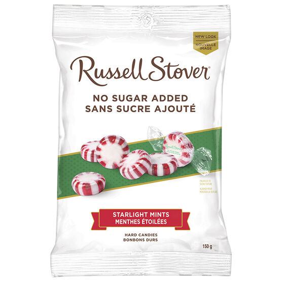 Russell Stover No Sugar Added Hard Candies - Starlight Mints - 150g