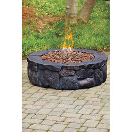 Caswell Gas Firepit - Earthtone Rock