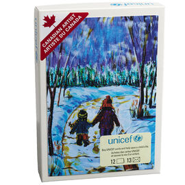 Unicef Christmas Cards - Children Walking - 12 pack