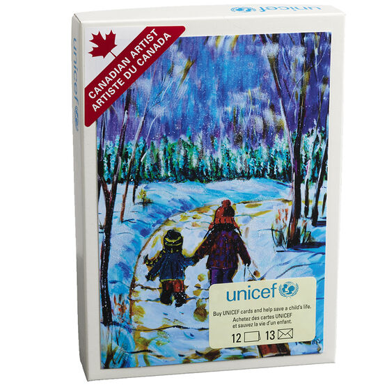 Unicef Christmas Cards - Children Walking - 12 pack