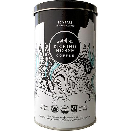 Kicking Horse Coffee 20 Years Anniversary Blend - Medium Roast - Whole Bean - 350g