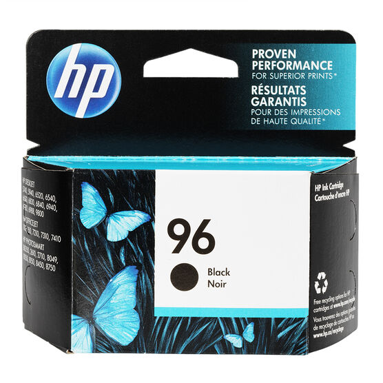 HP 96 Vivera Ink Cartridge - Black - C8767WC140