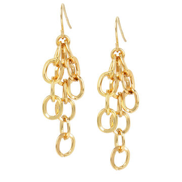 Haskell Chain Link Earrings - Gold