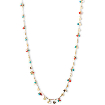 Lonna & Lilly Turquoise Shaky Chain Necklace - Gold Tone
