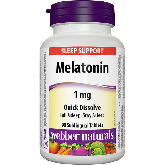 Webber Melatonin Quick Dissolve- 1mg - 90's